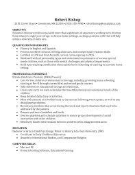 Sample Babysitter Resume by Nanny Resume Example Berathen Com