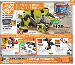 home depot weekly ad black friday home depot father u0027s day ad sale june 18 24 2015 ryobi one 18