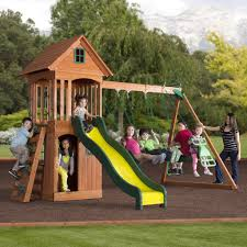 Cedar Playsets Springwood Wooden Swing Set Playsets Backyard Discovery