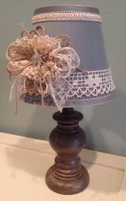 Small Lamp Table Cottage Chic Shabby Chic Handmade Girls Room Decorated Lamps