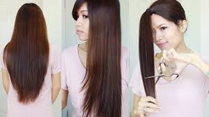 the best hair hack how to cut u0026 layer your hair at home youtube