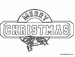 merry christmas printable coloring pages download for kids