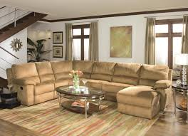 leather sectional sofa recliner butternut micro suede contemporary reclining sectional sofa