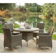 round wicker dining table outdoor wicker patio furniture