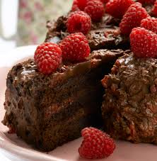 chocolate cake raspberry ganache divine chocolate