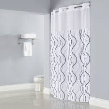Bed Bath And Beyond Shower Curtain Liner White And Silver Shower Curtain Rizzy Home Cable Embroidered