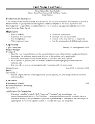 Examples Of Professional Summary For Resume by Management Resume Templates To Impress Any Employer Livecareer
