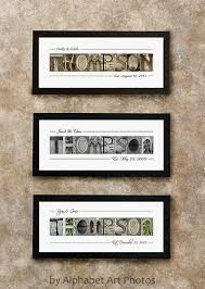 Personalized Signs For Home Decorating Last Name Sign Home Decor Alphabet Photo Letter Art Wall
