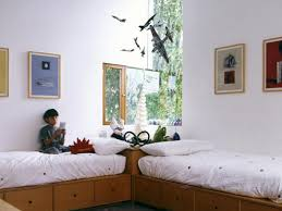 Two Twin Beds In Small Bedroom Modern Kids Room Decor Zamp Co