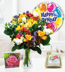 Flowers Delivered Uk - freesia balloon u0026 cake birthday combos 32 99 free chocolates