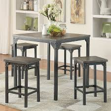 Acme Furniture Dining Room Set Shop Acme Furniture Percie Dark Antique Oak Dining Set With Square