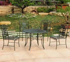 Cast Iron Patio Set Table Chairs Garden Furniture - woodard briarwood wrought iron patio set refinish iron patio