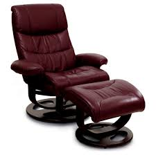most comfortable red leather recliner with ottoman of most