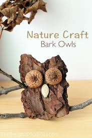 how to make bark owls nature crafts barking f c and fireflies