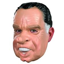 amazon com nixon costume mask tan black white one size clothing