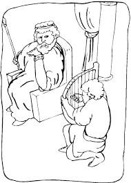 king saul coloring page 12934