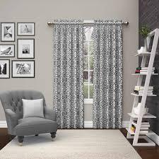 mainstays chevron polyester cotton curtain with bonus panel