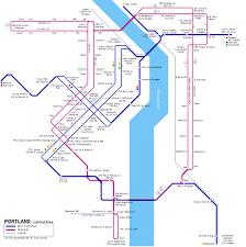 Los Angeles Light Rail Map by Urbanrail Net U003e Usa U003e Portland Light Rail