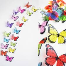 creative butterflies 3d wall stickers pvc removable art diy