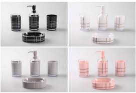 White Bathroom Accessories Set by Accessories Black And White Bathroom Accessories Sets Pink Pink