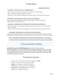 Sample Medical Technologist Resume by Clinical Nurse Specialist Cover Letter