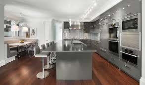 minimalist kitchen design stainless steel kitchen island grey