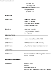 Curriculum Vitae Resume Template Resume Template Pharmacist Resume For Your Job Application
