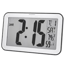 traceable jumbo digit compact radio controlled wall clock