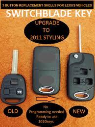 type of battery for lexus key fob pre cut 3 button flip remote shell key repair key fob case w free