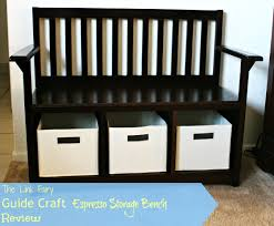 Living Room Bench by Guide Craft Espresso Storage Bench Review
