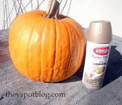 Thanksgiving Pumpkin Decorating Ideas Spray Painted Metallic Pumpkins Take Halloween Pumpkins Into