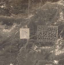 China Google Maps by Bizarre Structures In The Desert In China Discovered On Google