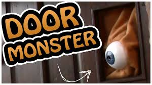 door monster crazy awesome halloween decoration youtube