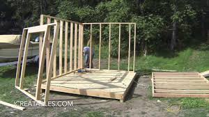 How To Build A Storage Shed Plans Free by Complete Backyard Shed Build In 3 Minutes Icreatables Shed Plans