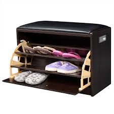 Shoe Storage Furniture by 2 In 1 Wooden Shoe Cabinet Ottoman Storage U0026 Entryway Benches