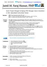 Engineering Project Manager Resume Sample by Jamil Faraj Hassan Pmp Cv