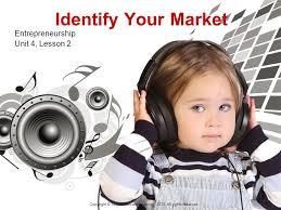 Identify Your Market Entrepreneurship Unit    Lesson   Copyright    Texas Education Agency       SlidePlayer