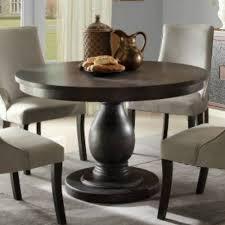 homelegance dandelion round pedestal dining table in distressed