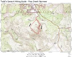 Payson Arizona Map by Pine Creek Narrows