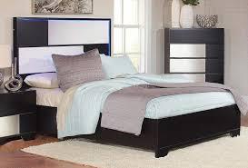 coaster havering platform low profile bed black sterling 204781