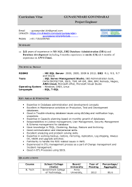 Database Administrator Resume Template       Free Samples     Fine Dining Server Resume   http   getresumetemplate info      fine