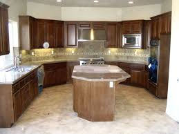 Marble Island Kitchen Brown White Colors Kitchen Cabinets U Shaped Kitchen Modern