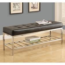bedroom furniture sets leather storage bench end bench modern