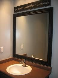 bathroom white framed bathroom mirror ideas with above mirror