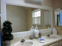 bathroom mirror decor trim around bathroom mirror decorating ideas