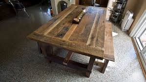 Solid Oak Reclaimed Barn Wood Dining Room Table - Barnwood kitchen table