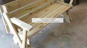 Plans For Wood Picnic Table by Table Picnic Table Bench With Back Plans Wonderful Picnic Table