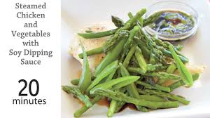 Vegetables by Steamed Chicken U0026 Vegetables With Soy Dipping Sauce Recipe Myrecipes