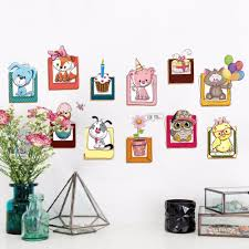 online get cheap cake wall decals aliexpress com alibaba group diy animals cartoon cake flowers wall decals fake frame for kids baby room nursery furniture decoration