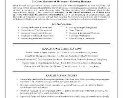 Resume Cook Skills  cook resume job description restaurant manager     Jobcoke com